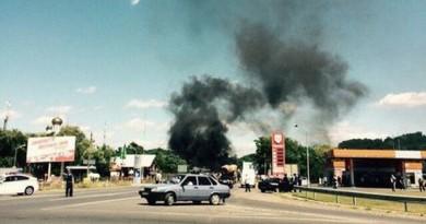 У Мукачеві бандити знищили 2 міліцейських авто поранено 3 правоохоронця